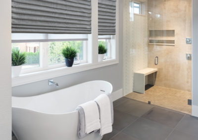 Roman Shade in Luxury Bathroom